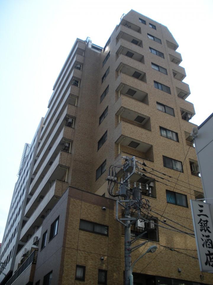 ライオンズマンション東銀座の外観